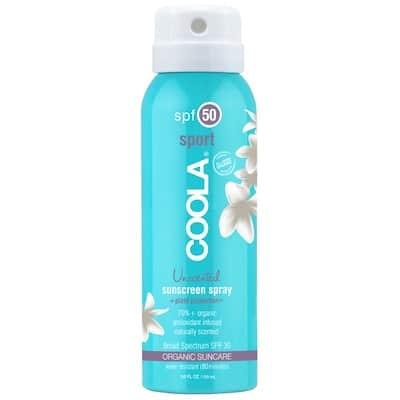 COOLA Sport Sunscreen Spray Unscented SPF 50